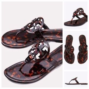 NeW in BoX~TORY BURCH~MILLER Sandals-TortoiseShell